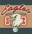 Eagles Basketball league jersey print vector image vector image