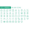 eco-friendly line icon pack vector image