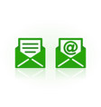 email symbols on white background vector image vector image