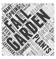Fall Gardening Word Cloud Concept vector image vector image
