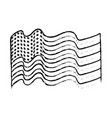 figure usa flag to celebrate holiday patriotic vector image vector image