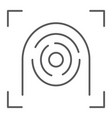fingerprint scanner thin line icon security vector image vector image