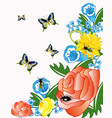 flower and insect vector image vector image