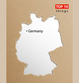germany map german maps craft paper texture vector image vector image