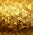 Gold pattern low poly triangle geometry fancy vector image
