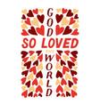 golden bible verse john 3 16 god so loved the vector image vector image