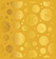golden yellow decorative abstract cricles vector image vector image