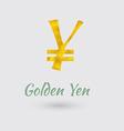 Golden Yen Symbol vector image vector image