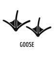 goose step icon simple style vector image vector image