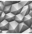 Gray triangle seamless low-poly background vector image vector image