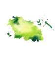 green watercolor splash stain texture background vector image vector image