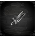 Hand Drawn Sword vector image vector image