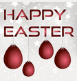 happy easter from paper with red eggs eps10 vector image