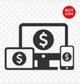 icon device freelans trading mobile tablet vector image vector image