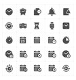 icon set - time and schedule filled icon style vector image vector image