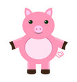 isolated stuffed pig toy vector image vector image