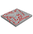 labyrinth maze made with 3d effect vector image
