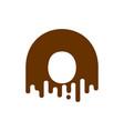 letter o chocolate font sweetness alphabet liquid vector image vector image