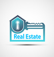 logo of the real estate vector image vector image