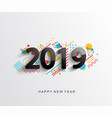 modern 2019 design card vector image