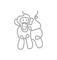monkey simple line logo design template isolated vector image