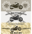 motorcycle banners vector image vector image