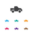 of agriculture symbol on truck vector image vector image
