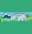 paper origami elephants concept elephants family vector image vector image