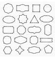 Pencil drawn shapes vector image vector image
