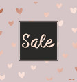 pink gold sale decorative background for sales vector image vector image