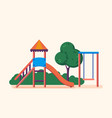 playground entertainment in form of swings park vector image vector image
