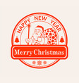 print print with a silhouette of santa claus with vector image