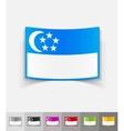 realistic design element singapore flag vector image