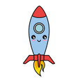 rocket spacehip isolated vector image vector image