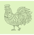 Rooster color drawing vector image vector image