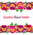 seamless floral border design for wedding vector image vector image