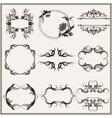 set elegant calligraphic frames vector image