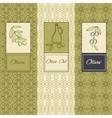 Set linear olive flyers brochures vector image vector image