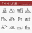 set of factories related line icons vector image vector image