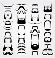 Set of whiskers vector image