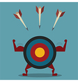 Strong target and arrow business concept vector image vector image