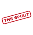 The Spirit Rubber Stamp vector image vector image