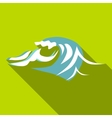 Twist wave icon flat style vector image vector image