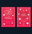 valentines day or wedding invitation vector image