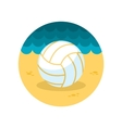 Volleyball flat icon vector image