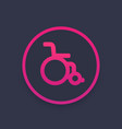 wheelchair icon sign vector image