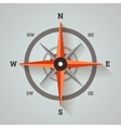 Wind rose compass vector image vector image