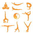 Yoga asanas icons vector image vector image