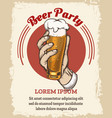 beer retro poster vector image