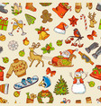 holidays funny pictures seamless pattern vector image